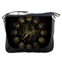 Messenger Bag Steampunk Clock Machine Popular Black Design For Game Anime Fanta - $30.00