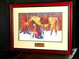Washington The Pray Praying at Valley Forge AA19-1550 Vintage Painting & Frame image 2