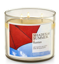 Bath & Body Works Shades of Summer Suntan Three Wick 14.5 Ounces Scented... - $22.49