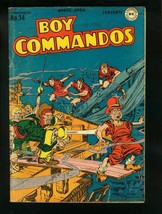 BOY COMMANDOS #14 1946-SIMON & KIRBY PIRACY COVER-WWII STORY-  vg/fn VG/FN - $119.80