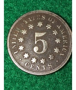 1867 Shield Nickel no Rays - $15.99