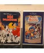 101 Dalmatians/ Puss Boots/ VHS - $14.03