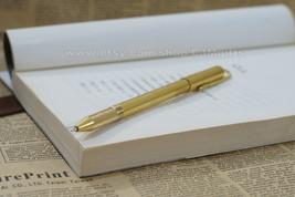 brass pen, solid barss pen, bass edc, metal pen, metal bass pen, brass b... - $18.00