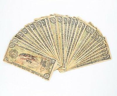 1914 México Revolution 5 Peso Notas Lote (30) MB Gobierno Provisional P# S702b