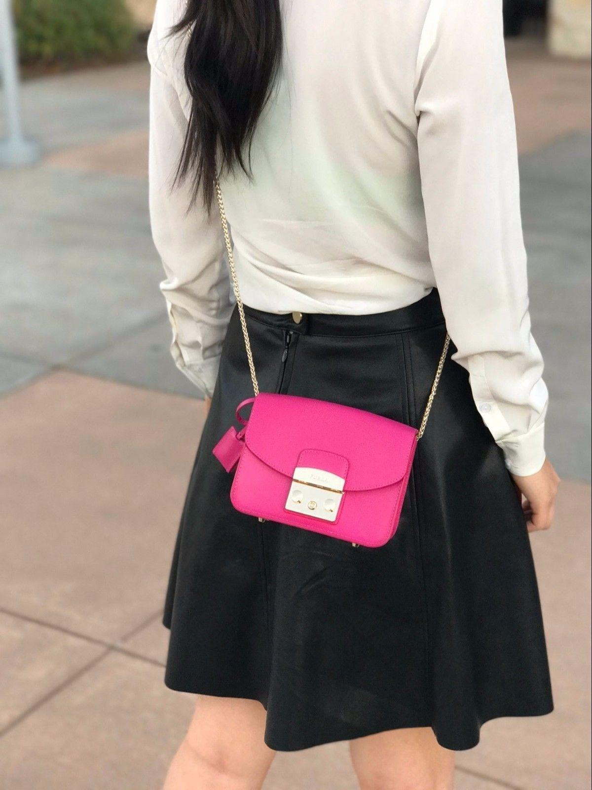 48805a8367a S l1600. S l1600. Furla Saffiano Leather Baby Julia Fuchsia Cross Body Bag  Gloss. Furla Saffiano Leather ...