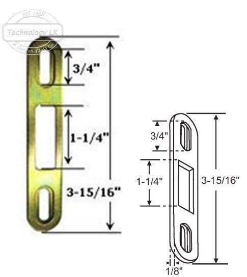"""Sliding Glass Patio Door Keeper, 3-15/16"""" Height x 1"""" Width - $9.85"""