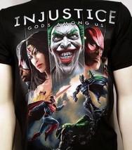 Auténtico Injustice Cubierta Arte Batman Joker DC COMICS Superhéroe Camiseta - $20.68