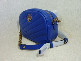 NWT Tory Burch Nautical Blue Kira Chevron Small Camera Bag $358 image 2