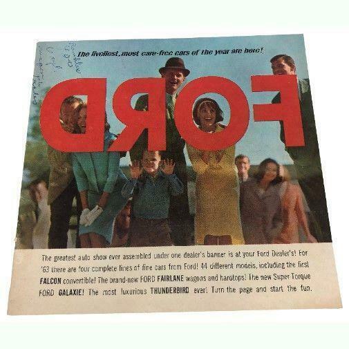 1963 Ford Full Line Sales Brochure Buyer's Guide Dealer Car Advertising - $13.86