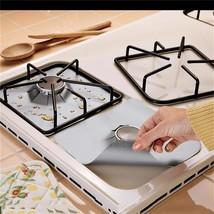Glass Fiber Stove Gas Burner Cover Mat Liner Reusable Pad Protectors Kit... - $14.98