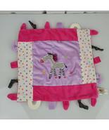 Maison Chic Pink Purple Zebra Polka Dot Teether Taggies Baby Blanket Lov... - $49.49