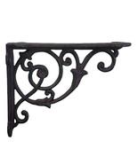 "Decorative Cast Iron Wall Shelf Bracket - Ornate Vine - Brown - 8.5"" Deep - $16.82"