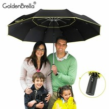 GoldenBrella® High Quality 120cm Fully-automatic Umbrella Men Rain Woman - $30.44
