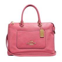 NEW WOMEN'S COACH (F31467)  PEONY PINK PEBBLED LEATHER EMMA SATCHEL BAG ... - $155.00