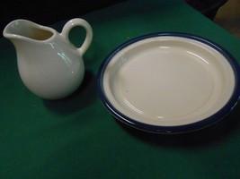 "Great Collectible Pfaltzgraff ""Ocean Breeze""....Creamer & Free Dessert Plate - $10.11"