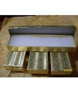 Necklace & Bracelet Boxes  Gold  ( 6 ) - $7.95