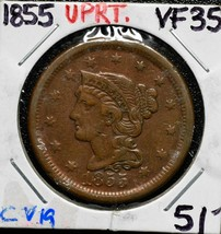 1855 LARGE CENT COIN LOT# CV19