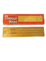 Vintage Solid Wood CRIBBAGE BOARD in Original Box, Whitman Model 4230  - $12.11