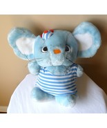 "SANRIO Mouse Plush 1986"" Vintage 11"" Tall Blue Striped w/cap Hard To Find!! - $58.75"