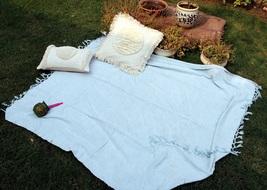 Indian Hand Woven Throw Blanket Boho Chick Blanket, Decorative Sofa Thro... - €53,47 EUR