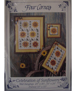 Pattern Wall Quilt Celebration of Sunflowers Several Sizes - $5.00