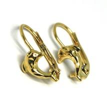 Boucles D'Oreilles Pendantes or Jaune 750 18K, de Fille, Dauphins Martelés image 1