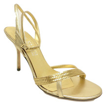 Anne Klein Gold Size 9.5 Sandals Heels or Shoes 9 1/2 from Italy - $26.10