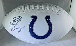 PEYTON MANNING / AUTOGRAPHED INDIANAPOLIS COLTS WHITE FOOTBALL / MANNING HOLO image 1