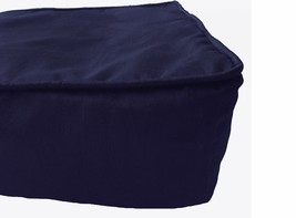 Box Cushion Cover Polyester Solid Navy Blue Piping Floor Large Cushion C... - $17.82+