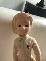 Vintage 1940's Or 1950's Red Cross Nurse Doll - $49.49