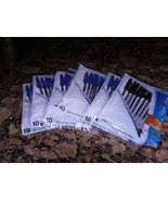 5 packages of 10 Papermate Cap pen with Blue ink 1package black ink - $12.50