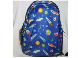 KIDS BACKPACK BOOK BAG WITH SPACE MOTIF BLUE BACKGROUND NWOT BY WILDKIN ... - $26.99