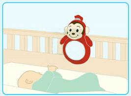 "Toy Trons Coco Mong Mirror Stuffed Animal Monkey Plush Toy 13.7"" 35cm image 4"