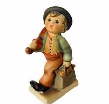 Goebel Hummel figurine vtg West Germany Merry Wanderer Umbrella suitcase... - $39.55