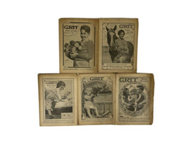 GRIT Magazine Story Section 1935 Antique Periodical- Lot of 5 - $27.67