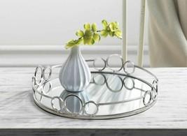 Silver Circles Mirrored Tray - $67.12