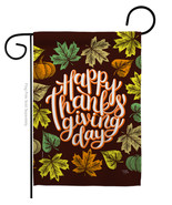 Thanksgiving Day - Impressions Decorative Garden Flag G163087-BO - $19.97