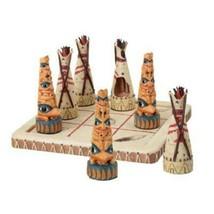YTC Summit Tic Tac Toe Native Tribes Figurine - $21.77