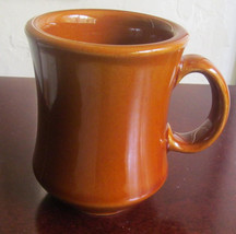 Vintage Reco Made Solid Heavy Brown Color Coffee Collectible Pottery Mug - $13.99