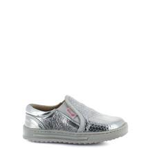 Girl's Rilo silver leather slip-on sneaker - $38.98