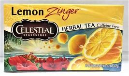 Celestial Seasonings Lemon Zinger Caffeine Free Herbal Tea 20 Tea Bags 1... - $8.45