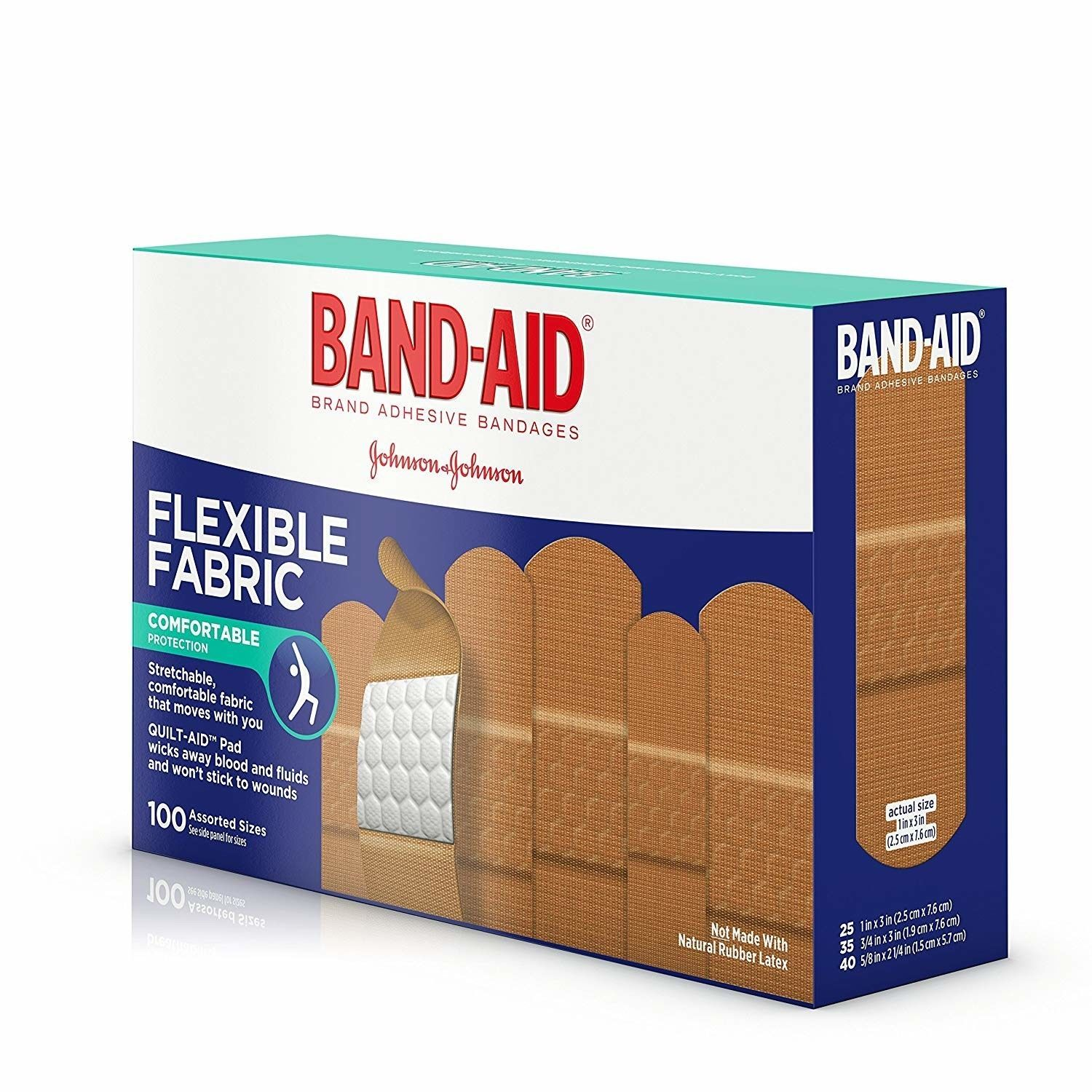 Band-Aid Brand Flexible Fabric Adhesive Bandages 100 Count New Johnson & Johnson