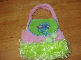 Webkinz Pets Accessories Pink and Green Carrier Purse - $3.36