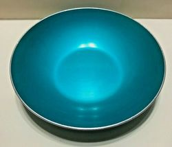 MID CENTURY MODERN EMALOX OF NORWAY ANODIZED LACQUERED METAL TURQUOISE B... - $19.95