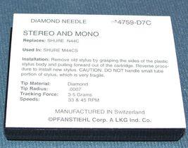 NEEDLE STYLUS 4759-D7C FOR Shure N44 N44C N44-7 V2NE M44-7 M44G M44MA M44C image 3