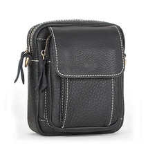 genuine leather small messenger bags for men shoulder bags male crossbod... - $55.71