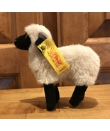 Vintage Steiff BLack And White Easter Christmas Lamb Sheep CLEAN Adult Owned  - $29.62