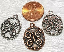 BUTTERFLY FINE PEWTER PENDANT CHARM - 17x22x2mm image 2