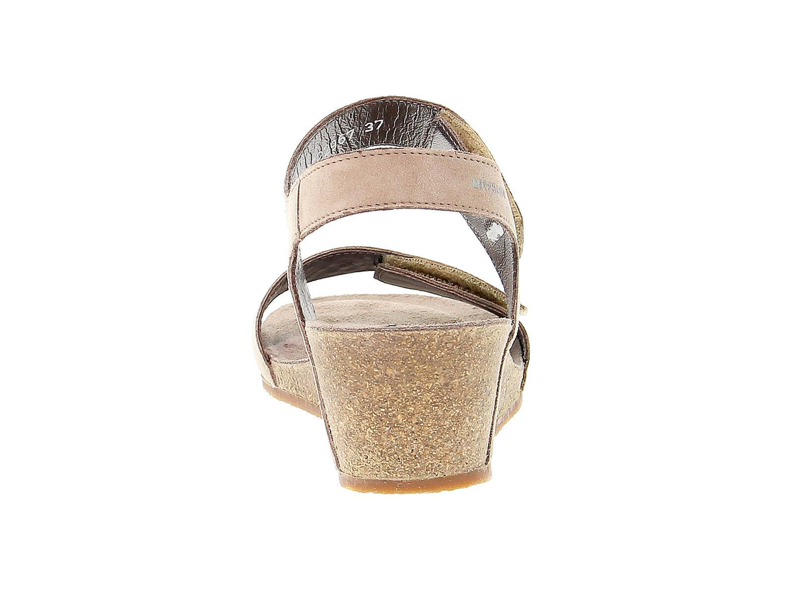 Sandalo con tacco MEPHISTO MARIA in camoscio taupe - Scarpe Donna