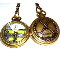 Fossil Golf Pocket Watch Rare Collectable Unused E 9470 Limited Edition Only $45 - $44.40